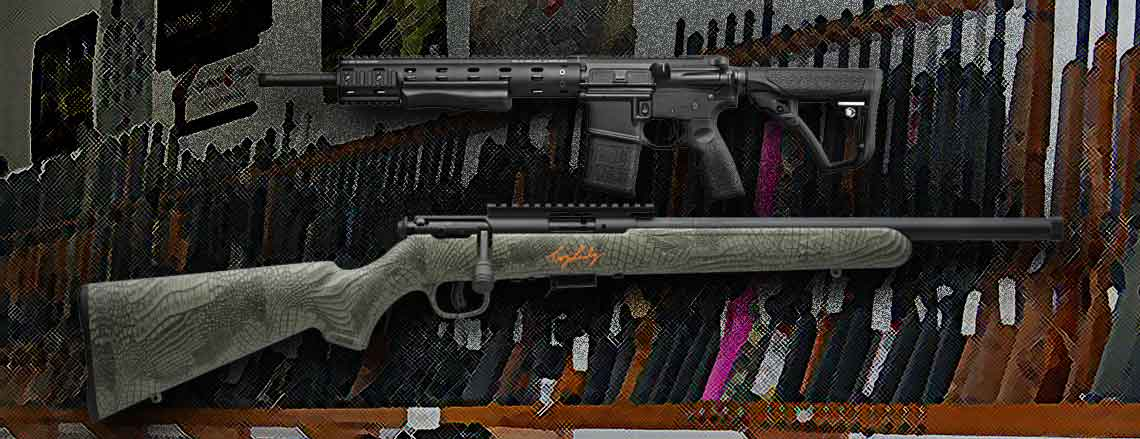 Rifles and hand guns for sale